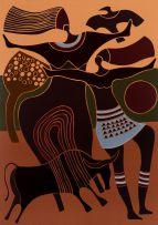 Lucky Sibiya; Figures and Bull