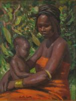 Alfred Neville Lewis; Mother and Child