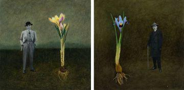 Margaret Vorster; Man with Flowering Bulb, two