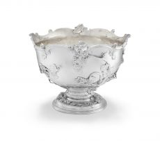 A George II silver punch bowl, William Cripps, London, 1751