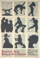 William Kentridge; Standard Bank National Arts Festival, 29 June – 11 July 1999, poster