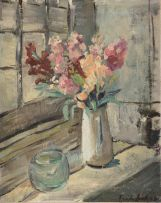 Freida Lock; Flowers in a Vase