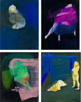 Helen Joseph; Blue Nude III; Purple Nude; Green Nude; Untitled, four