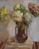 Freida Lock; Still Life with Hydrangeas and Bowl