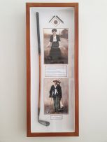 Framed 100-year-old Hickory-shafted Cleek Golf Club
