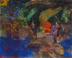 Karel Nel; The Place of the Manao Tupapau, Gauguin's Grave, Hiva Oa
