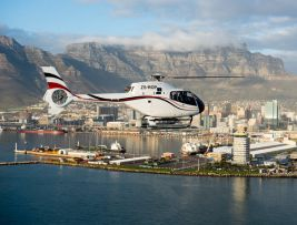 Helicopter Trip around Cape Peninsula and Den Anker Restaurant Experience