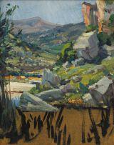 Hugo Naudé; Unfinished Landscape, Caledon