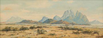 Otto Klar; Landscape with Mountains