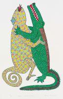 Zenzane Mazibuko; Ingwena Ibamba Unwaba (The Crocodile Catches the Chameleon)