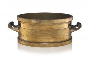 A Cape of Good Hope Imperial brass bushel, de Grave & Co, London, 1895