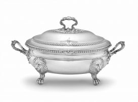 A George III silver soup tureen and cover, Robert Garrard, London, 1817