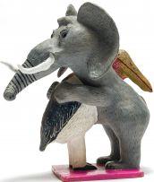 Bonakele (Bonnie) Ntshalintshali; Elephant and Stork Embracing