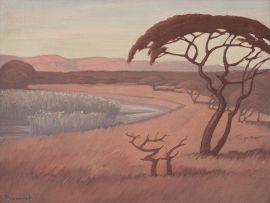 Jacob Hendrik Pierneef; Landscape with Wetland