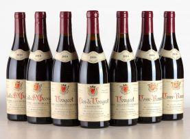 Domaine Alain Hudelot-Noellat; Nuits-Saint-Georges 1er Cru Les Murgers, Vougeots 1er Les Petits Vougeot, Vosne-Romanée, Clos de Vougeot; 2010; 7 (1 x 7); 750ml