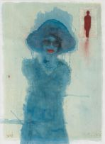 Sue Pam-Grant; Untitled (Blue Woman)