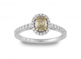 Diamond and 18ct white gold ring