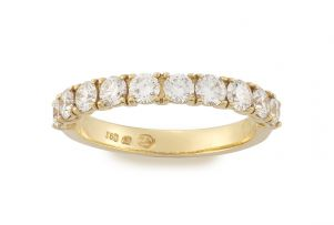 Diamond and 18ct yellow gold eternity ring