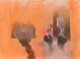 Lionel Abrams; Abstract (Orange)