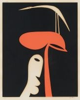 Walter Battiss; Man, Tree and Bird