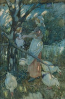 Sydney Carter; Mother and Child with Geese