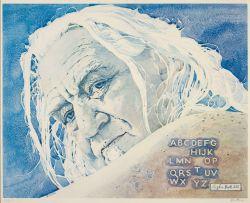 Walter Battiss; Alpha Batt 155 (Self Portrait)