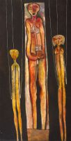 Cecil Skotnes; Three Figures (Puppets)