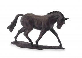 Kate Denton; Dressage Horse in Mid Stride, series of 7