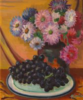 Maggie Laubser; Still Life with Flowers and Fruit