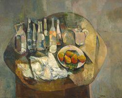 Cecil Skotnes; Stillewe met Bottels