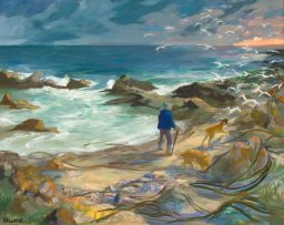 Marjorie Wallace; Walking on the Beach, Onrus River
