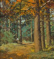 Walter Gilbert Wiles; Figure Collecting Firewood