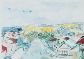 Thijs Nel; Mining Village with Mine Dumps
