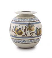 Bruce Walford; Vase with Foliate Panels between Diaper Boarders