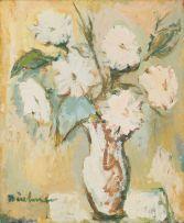 Carl Büchner; Blomme (Vase of White Flowers)
