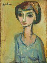 Carl Büchner; Portrait of a Woman