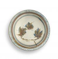 Bruce Walford; Stylized Flower Stoneware Dish