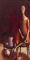 Deborah Bell; See-Line Woman Dressed in Red, She Drink Tea, She Drink Coffee, Then She Go Home