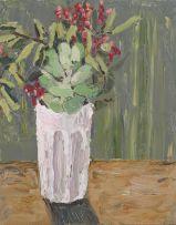 Mia Chaplin; Vase of Flowers