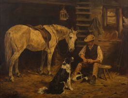 John Emms; Lunchtime in the Stable