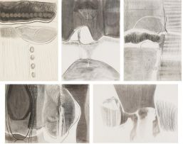 Lionel Abrams; Charcoal Drawings, five