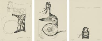 Cecily Sash; Old Welsh Bottle series, three