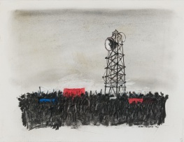 William Kentridge; Untitled Drawing for Mango Groove Music Video (Crowd and Megaphone)
