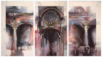Derric van Rensburg; Abstract Cathedral, triptych
