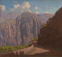 Jan Ernst Abraham Volschenk; The Road in Cogmanskloof, Montagu
