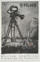 William Kentridge; 9 Drawings for Projection, poster