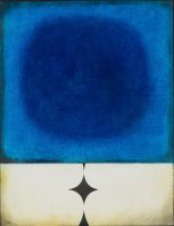 Douglas Portway; Abstract Composition in Blue