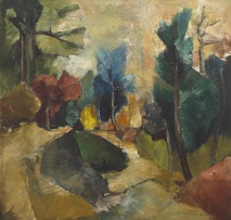 Paul du Toit; Stream in a Forest