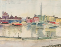 Maud Sumner; View of the Thames with Battersea Bridge