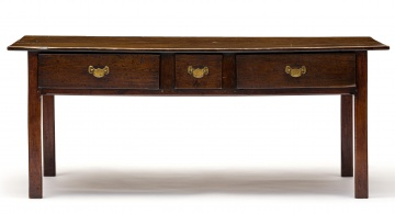 A French elmwood and oak server, 19th century and later